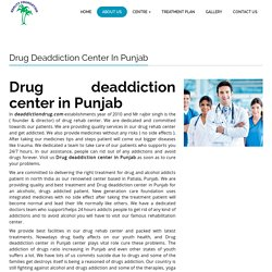Drug deaddiction center in Punjab