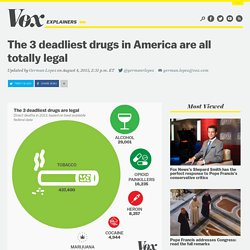 The 3 deadliest drugs in America are all totally legal