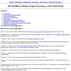 The Deadliest Atlantic Tropical Cyclones, 1492-1996 (Text)