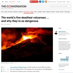 The world's five deadliest volcanoes ... and why they're so dangerous