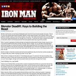 Monster Deadlift: Keys to Building the Beast