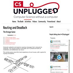 Routing and Deadlock - Computer Science Unplugged