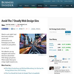 Avoid The 7 Deadly Web Design Sins