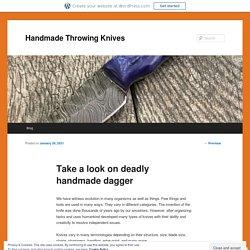 Take a look on deadly handmade dagger