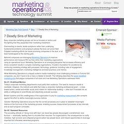 » 7 Deadly Sins of Marketing Marketing Ops Tech Summit