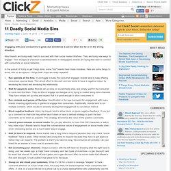 11 Deadly Social Media Sins for Brands