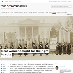 Deaf women fought for the right to vote