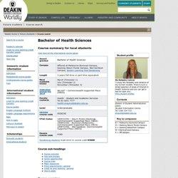 Deakin - Bachelor of Health Sciences