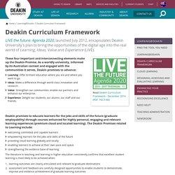 Deakin Curriculum Framework