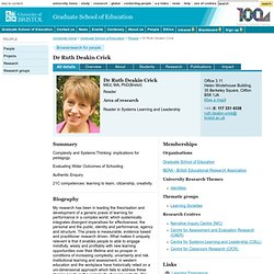 Dr Ruth Deakin Crick - Graduate School of Education publications
