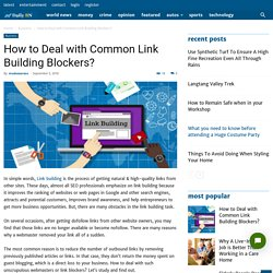 How to Deal with Common Link Building Blockers?