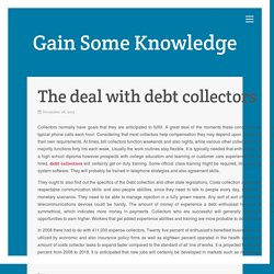 The deal with debt collectors