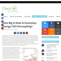 How Big A Deal Is Economy–Energy CO2 Decoupling?