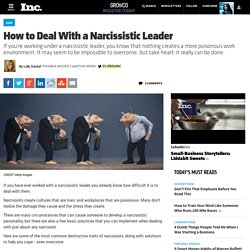 How to Deal With a Narcissistic Leader
