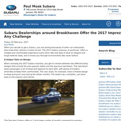 Subaru Dealerships around Brookhaven Offer the 2017 Impreza: Up for Any Challenge