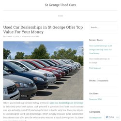 Used Car Dealerships in St George