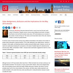 Voter dealignment, disillusion and the implications for the May 2015 election
