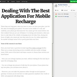 Dealing With The Best Application For Mobile Recharge