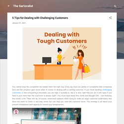 5 Tips for Dealing with Challenging Customers