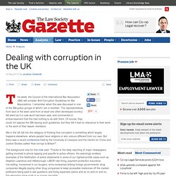 Dealing with corruption in the UK