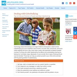 Dealing with Cyberbullying: Tips for Kids and Parents to Prevent and Stop Cyberbullying