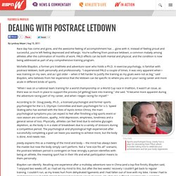 Dealing with postrace letdown