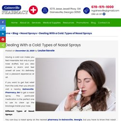 Dealing With a Cold: Types of Nasal Sprays