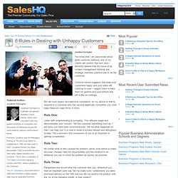 6 Rules in Dealing with Unhappy Customers - SalesHQ