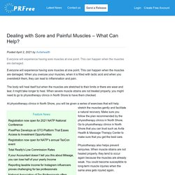 Dealing with Sore and Painful Muscles – What Can Help?