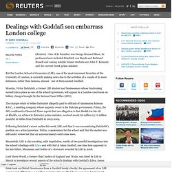 Dealings with Gaddafi son embarrass London college