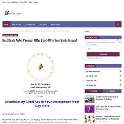 Best Deals Airtel Payment Offer