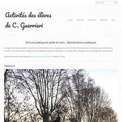 Déambulations poétiques - Activités des élèves de C. Guerrieri
