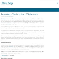 Dean Grey – The Inception of Skylab Apps