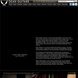 Dean Guitars Mission Statement