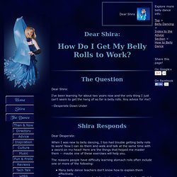 Dear Shira: How Can I Get My Belly to Roll?