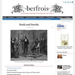 Death and Derrida by Peter Gratton
