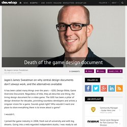 Death of the game design document