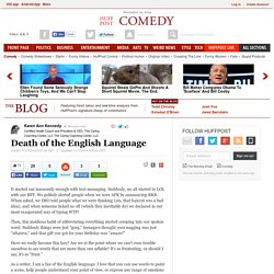 Death of the English Language