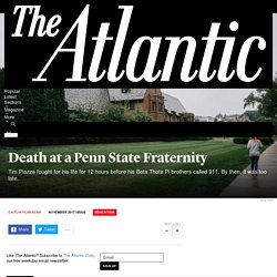 Death at a Penn State Fraternity - The Atlantic