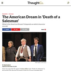 """Death of a Salesman"": The American Dream Theme"