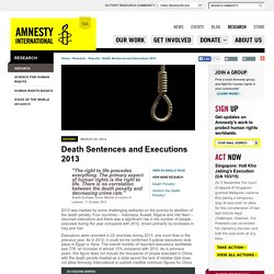 Death Sentences and Executions 2013