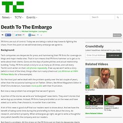 Death To The Embargo
