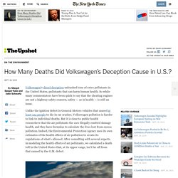 How Many Deaths Did Volkswagen's Deception Cause in U.S.?