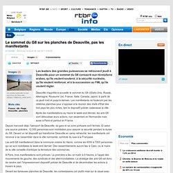 Le sommet du G8 sur les planches de Deauville, pas les manifestants