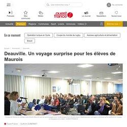 Deauville. Un voyage surprise pour les élèves de Maurois