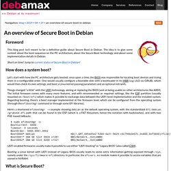 Debian expertise — Blog — An overview of Secure Boot in Debian