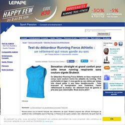 Test du débardeur Brubeck Running Force Athletic