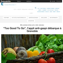 "FRANCE 3 23/08/17 ""Too Good To Go"", l'appli anti-gaspi débarque à Grenoble"