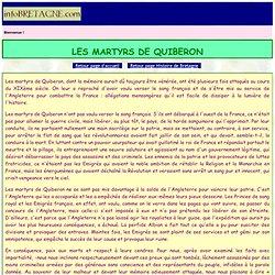 Martyrs de Quiberon (1795): expédition,débarquement,désastre,capitulation,massacre des émigrés