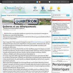 Quiberon et ses débarquements